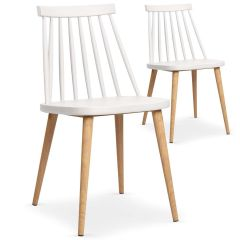 lot 2 chaises scandinaves Blanches