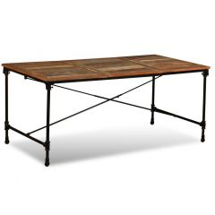 Table 180 Industrielle metal et bois massif