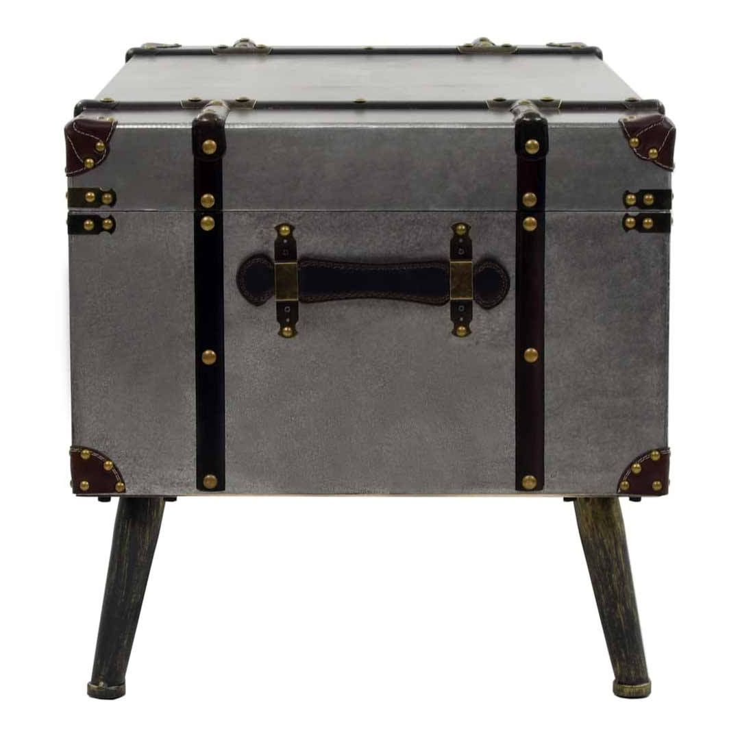 Malle Comme Table Basse table basse malle aluminium style industriel