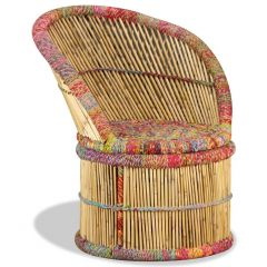 Chaise Bambou Indi Paon Multicolore