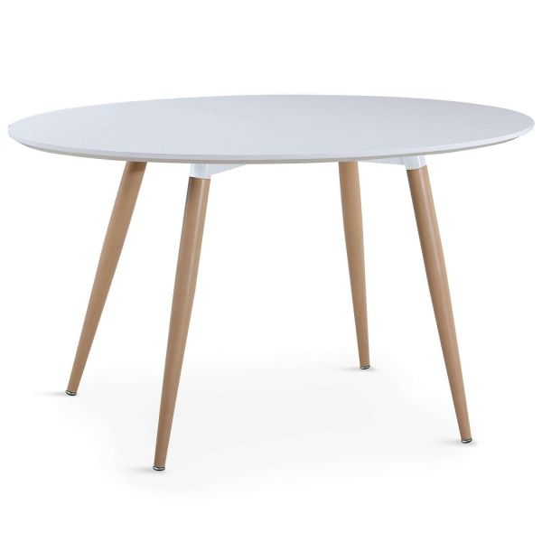 Table ovale scandinave 4 couverts blanc