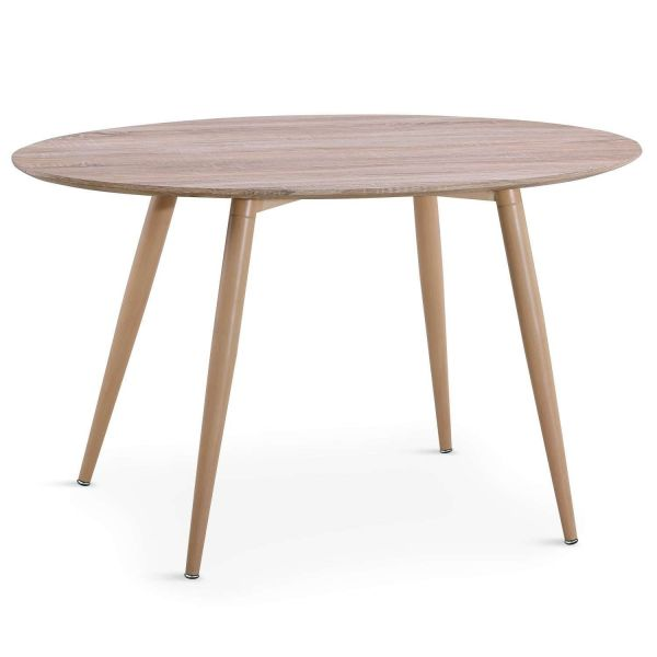 Table ovale scandinave 4 couverts chêne