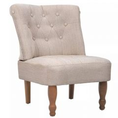 Fauteuil Crapaud France Creme Tissu