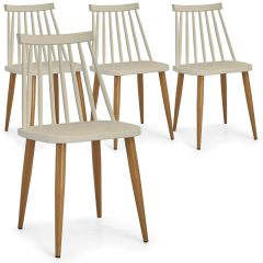 Lot de 4 chaises scandinaves Havre Beige