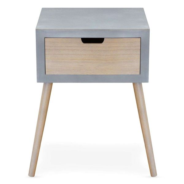 Table de chevet scandinave Gris