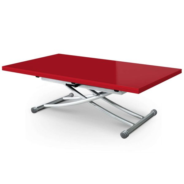 Table basse modulable Upfacil XL rouge laqué