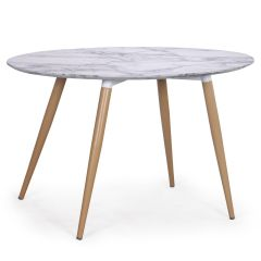 Table scandinave ovale marbre