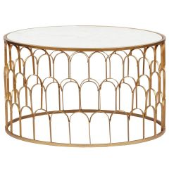 Table basse ronde Zouee Marbre Blanc