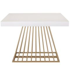Table extensible Industrielle Fifty Blanc