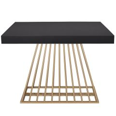 Table extensible Industrielle Fifty Bois Noir