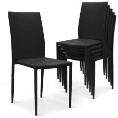 Lot de 30 chaises salon Nosand noires