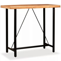 Table de bar industrielle Bois massif 120 x 60 Idea