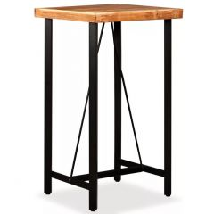 Table haute de bar Idea Bois massif 60 x 60 cm
