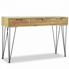 Console style industriel 120 Teck massif