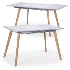 Table extensible Spagna160 effet Marbre
