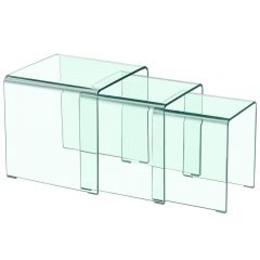 Table basse gigogne verre design