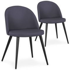Lot de 2 chaises design Scandinave Parla Gris