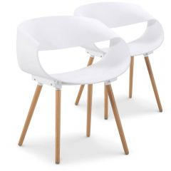 ensemble 2 chaises design style scandinaves