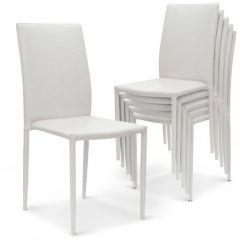 Lot de 30 chaises salon Nosand blanches