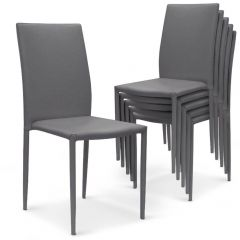 Lot de 30 chaises empilables simili Gris