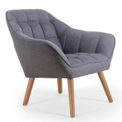 Fauteuil Scandinave tissu gris Clair Relaxo