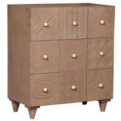Commode bois sculpté Bois Marron Jastan