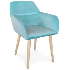 Chaise scandinave Velours Menthe Kyoto