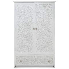 Armoire style indien Tatoom Bois Blanc