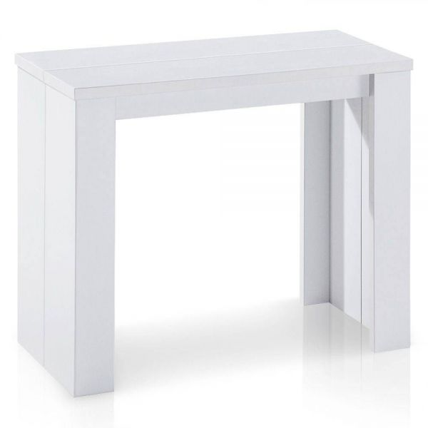 Console extensible Blanc 10 couverts Newyork