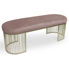 Banquette design Darc Velours Rose