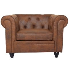Fauteuil Chesterfield Vintage