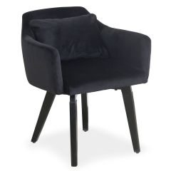 Lot de 20 fauteuils Scandinaves Kingo Velours Noir