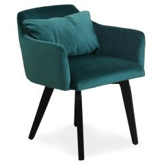 Lot de 20 fauteuils Scandinaves Kingo velours Vert