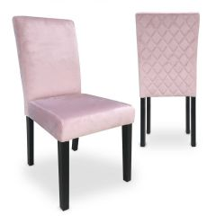 Chaises Lam Velours Rose (lot de 2)