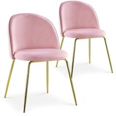 Chaises modernes Electra Velours Rose