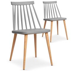 Lot de 2 chaises scandinaves Sivth Gris