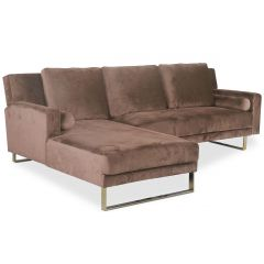 Canapé d'angle convertible Ludi Velours Taupe