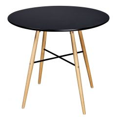 Table repas style scandinave Norsk 80 cm noire