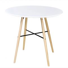 Table repas style scandinave Norsk 80 cm Blanche